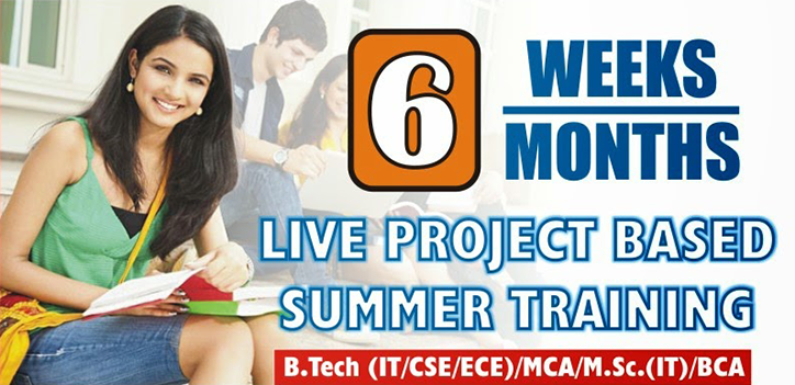 summer training with project delhi noida@intagliosolutions